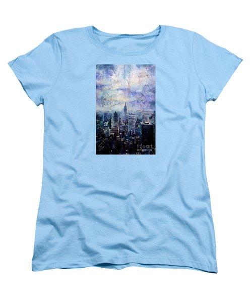 Empire State Building In Blue Women's T-Shirt (Standard Cut)
