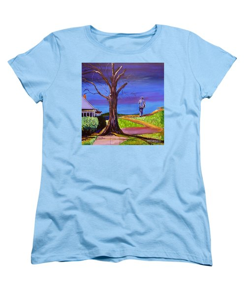 End Of Day Highway 98 Women's T-Shirt (Standard Cut) by Ecinja Art Works