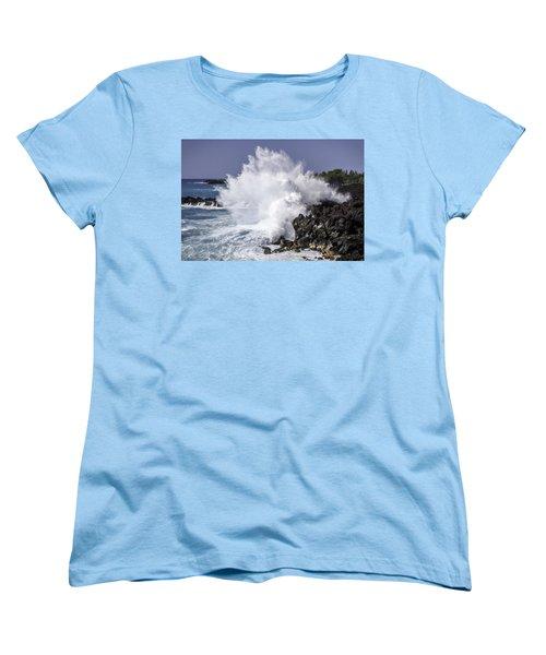 End Of The World Explosion Women's T-Shirt (Standard Cut) by Denise Bird