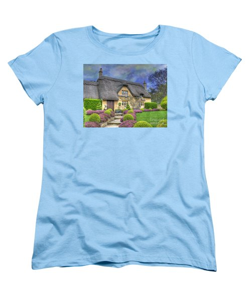 English Country Cottage Women's T-Shirt (Standard Cut) by Juli Scalzi