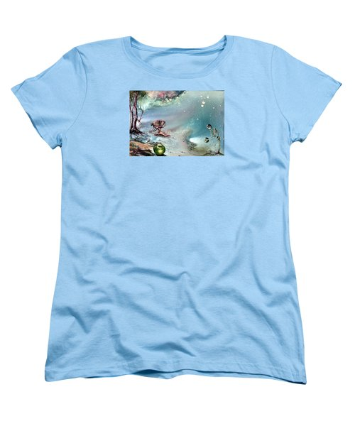 Women's T-Shirt (Standard Cut) featuring the painting Enigma by Mikhail Savchenko