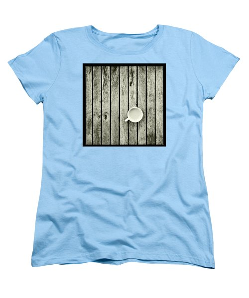 Espresso On A Wooden Table Women's T-Shirt (Standard Cut) by Marco Oliveira
