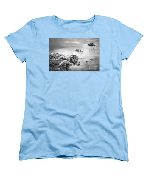 Women's T-Shirt (Standard Cut) featuring the photograph Estacas Beach Galicia Spain by Pablo Avanzini