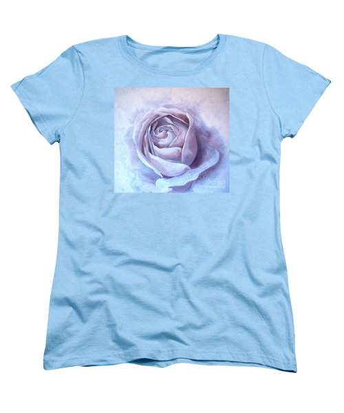Women's T-Shirt (Standard Cut) featuring the painting Ethereal Rose by Sandra Phryce-Jones