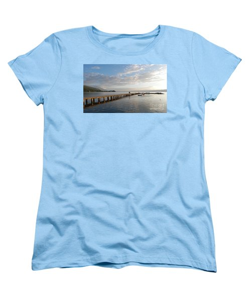 Women's T-Shirt (Standard Cut) featuring the photograph Evening - Lake Ohrid - Macedonia by Phil Banks