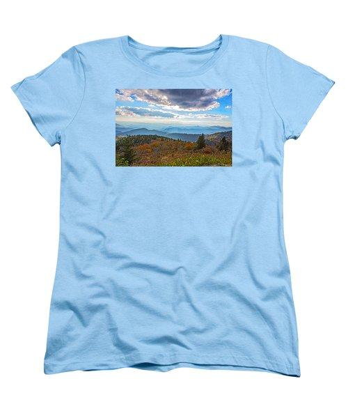 Evening On The Blue Ridge Parkway Women's T-Shirt (Standard Cut) by John Haldane