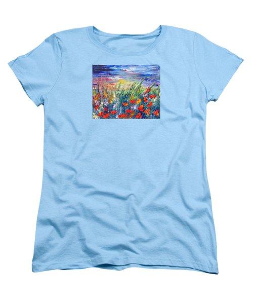 Evening Women's T-Shirt (Standard Cut) by Teresa Wegrzyn