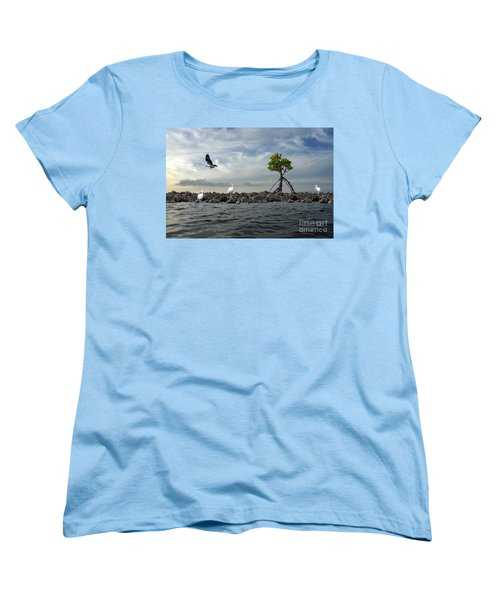 Women's T-Shirt (Standard Cut) featuring the photograph Everglade Scene by Dan Friend