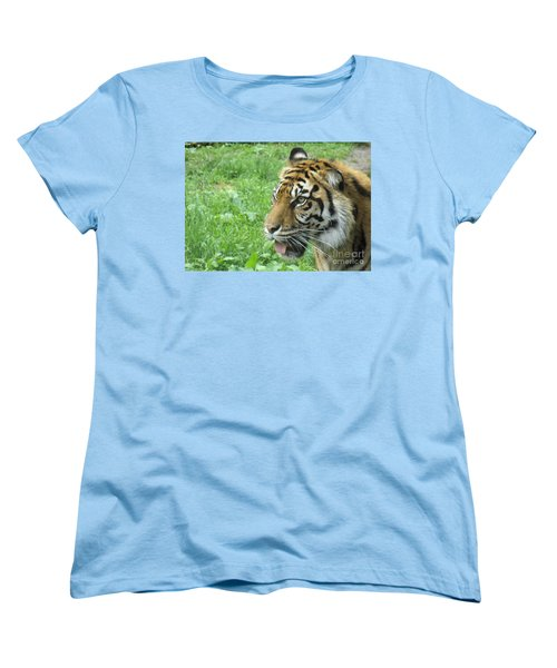 Women's T-Shirt (Standard Cut) featuring the photograph Eye Of The Tiger by Lingfai Leung