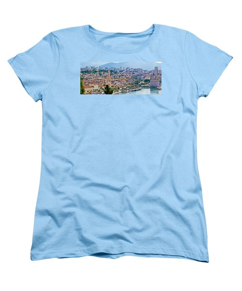 Fabulous Split Waterfront Aerial Panorama Women's T-Shirt (Standard Cut) by Brch Photography