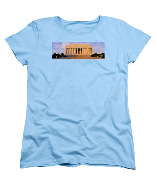 Facade Of A Memorial Building, Lincoln Women's T-Shirt (Standard Cut) by Panoramic Images