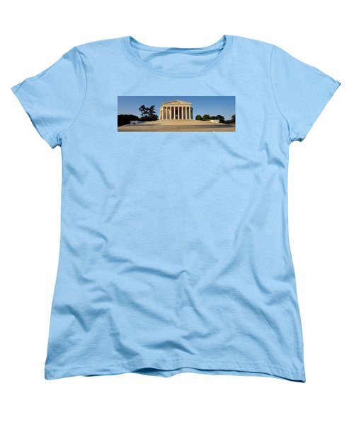 Facade Of A Memorial, Jefferson Women's T-Shirt (Standard Cut) by Panoramic Images