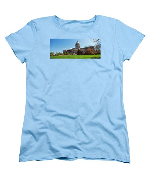 Facade Of State Capitol Building Women's T-Shirt (Standard Cut) by Panoramic Images
