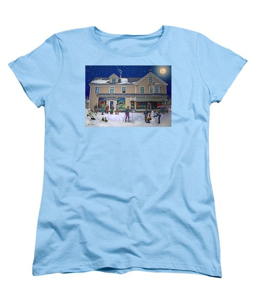 Faddens General Store In North Woodstock Nh Women's T-Shirt (Standard Cut) by Nancy Griswold