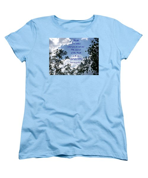 Women's T-Shirt (Standard Cut) featuring the photograph Faith by Aimee L Maher Photography and Art Visit ALMGallerydotcom
