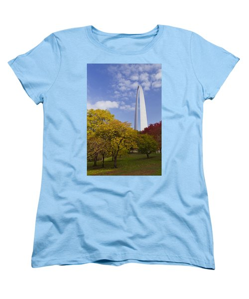 Fall At The St Louis Arch Women's T-Shirt (Standard Cut) by Garry McMichael