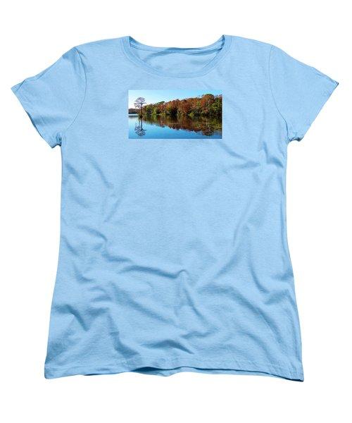 Fall In The Air Women's T-Shirt (Standard Cut) by Cynthia Guinn