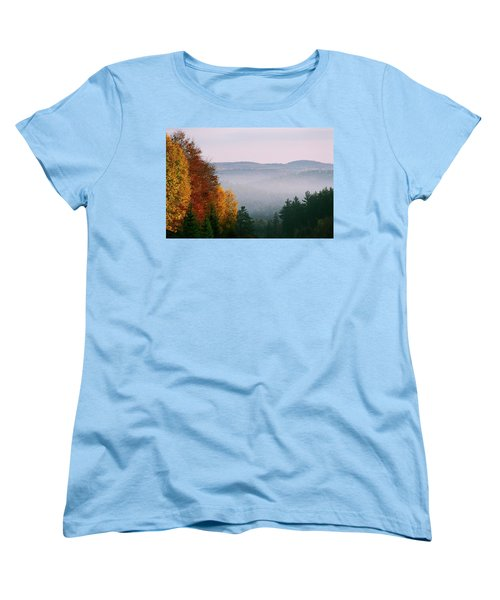 Fall Morning Women's T-Shirt (Standard Cut) by David Porteus