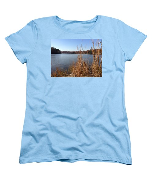 Women's T-Shirt (Standard Cut) featuring the photograph Fall On The Creek by Charles Kraus