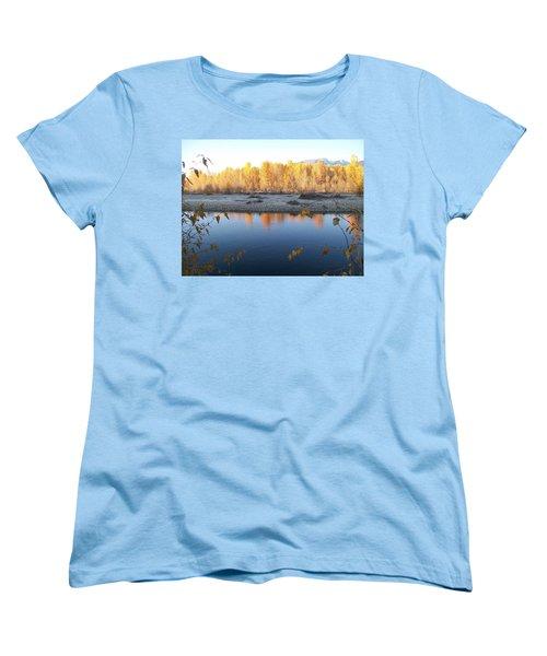 Fall Reflection 2 Women's T-Shirt (Standard Cut) by Jewel Hengen