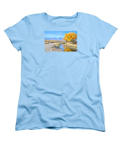 Women's T-Shirt (Standard Cut) featuring the photograph Fall Reflections by Marilyn Diaz