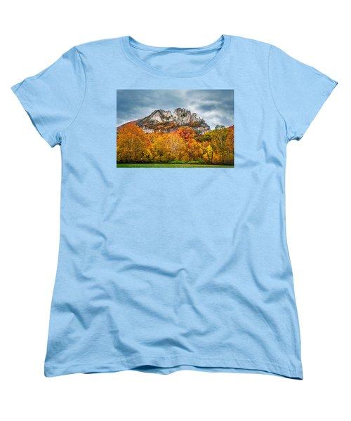 Fall Storm Seneca Rocks Women's T-Shirt (Standard Cut)