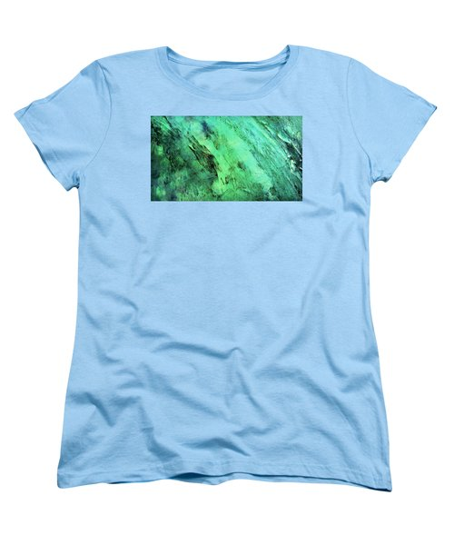 Women's T-Shirt (Standard Cut) featuring the mixed media Fallen by Ally  White
