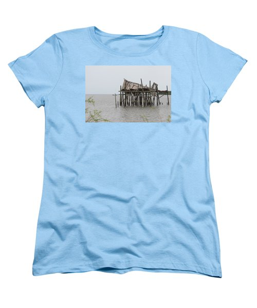 Fallen Deckhouse Women's T-Shirt (Standard Cut) by Fortunate Findings Shirley Dickerson
