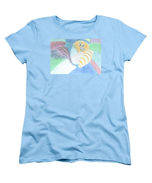Women's T-Shirt (Standard Cut) featuring the drawing Fantasy Of Egg And Cactus by Esther Newman-Cohen