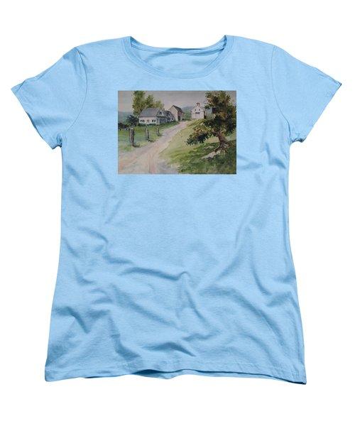 Farm On Orchard Hill Women's T-Shirt (Standard Cut) by Joy Nichols