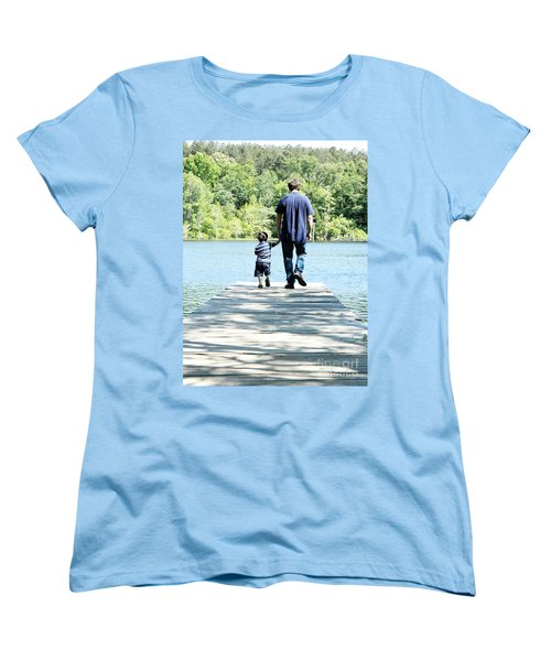 Father And Son Women's T-Shirt (Standard Cut) by Andrea Anderegg