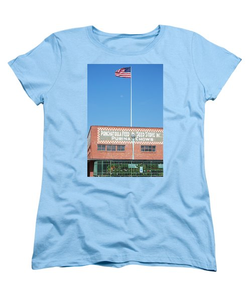 Women's T-Shirt (Standard Cut) featuring the photograph Feed Store by Charlotte Schafer