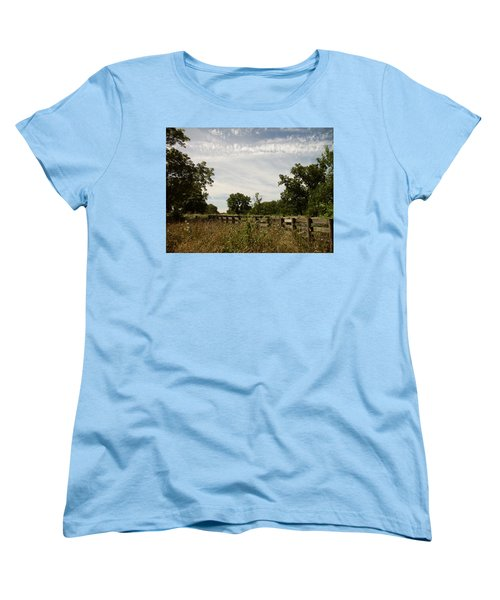 Women's T-Shirt (Standard Cut) featuring the photograph Fence 2 by Cynthia Lassiter
