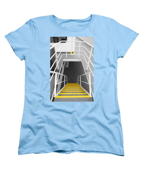 Women's T-Shirt (Standard Cut) featuring the photograph Ferry Stairwell by Marilyn Wilson