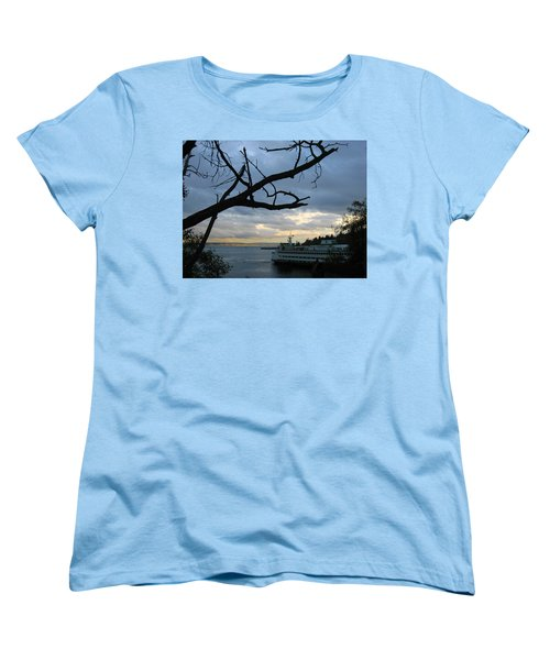 Ferryboat To Seattle  Women's T-Shirt (Standard Cut) by Kym Backland