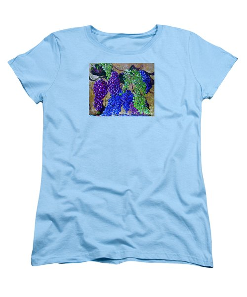Women's T-Shirt (Standard Cut) featuring the painting Festival Of Grapes by Eloise Schneider