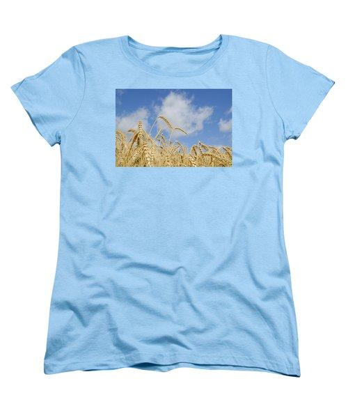 Field Of Wheat Women's T-Shirt (Standard Cut) by Charles Beeler