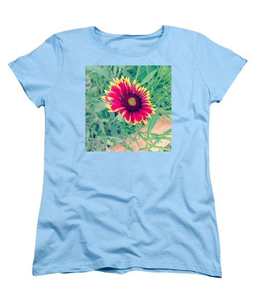 Fire Daisy Women's T-Shirt (Standard Cut) by Thomasina Durkay