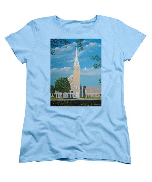 First Congregational Church Women's T-Shirt (Standard Cut) by Norm Starks