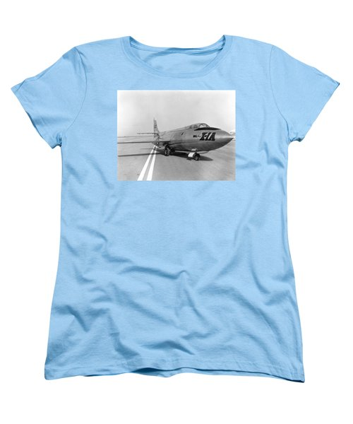 Women's T-Shirt (Standard Cut) featuring the photograph First Supersonic Aircraft, Bell X-1 by Science Source