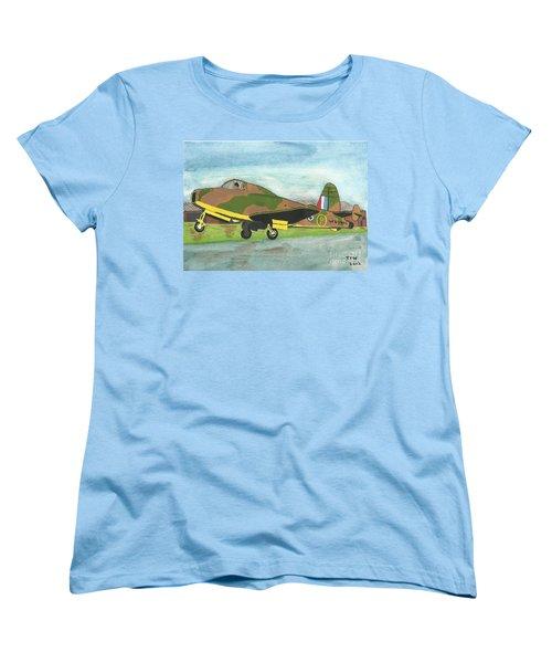 Women's T-Shirt (Standard Cut) featuring the painting Firstflight by John Williams