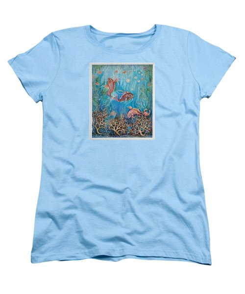Fish In A Pond Women's T-Shirt (Standard Cut) by Yolanda Rodriguez