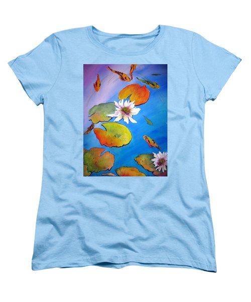 Fish Pond I Women's T-Shirt (Standard Cut) by Lil Taylor