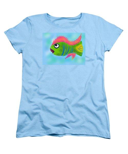 Women's T-Shirt (Standard Cut) featuring the digital art Fish Wish by Christine Fournier