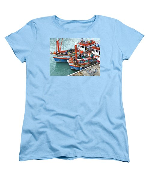 Women's T-Shirt (Standard Cut) featuring the photograph Fisherman by Andrea Anderegg