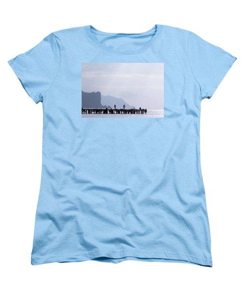 Fisherman At The Pier Women's T-Shirt (Standard Cut)