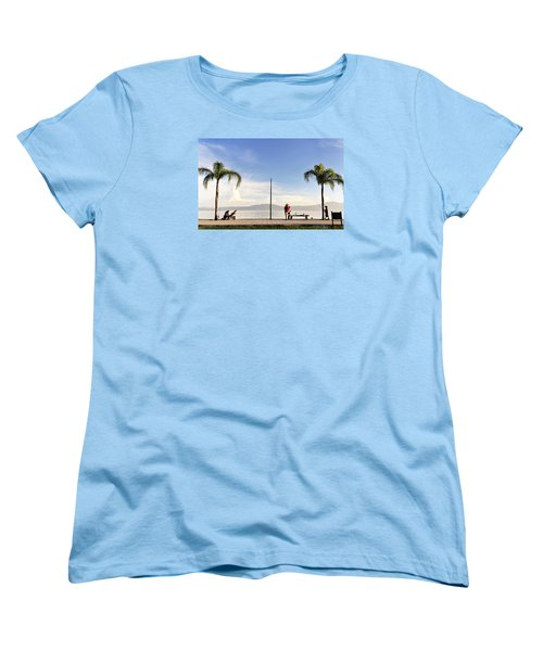 Women's T-Shirt (Standard Cut) featuring the photograph Fishing On Lake Chapala by David Perry Lawrence