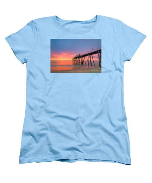Fishing Pier Sunrise Women's T-Shirt (Standard Cut)