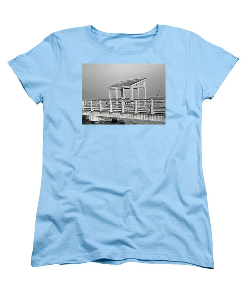Women's T-Shirt (Standard Cut) featuring the photograph Fishing Pier by Tikvah's Hope