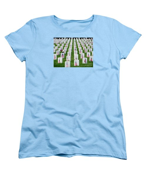 Women's T-Shirt (Standard Cut) featuring the photograph Flags Of Honor by Ed Weidman